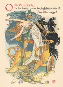 thumbnail Walter Crane – O Proserpina, For the flowers now, that, frighted, thou let'st fall From Dis's waggon! (The Winter's Tale) [from Flowers from Shakespeare's Garden]