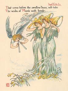 ウォルター・クレイン – ラッパスイセン (冬物語) (シェイクスピアの花園より)のサムネイル画像