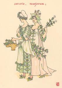 ウォルター・クレイン – マジョラム、サボリー (冬物語) (シェイクスピアの花園より)のサムネイル画像