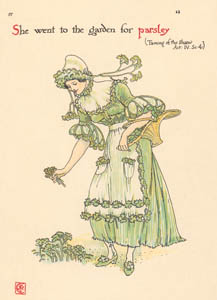 ウォルター・クレイン – パセリ (じゃじゃ馬ならし) (シェイクスピアの花園より)のサムネイル画像