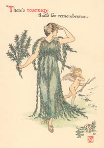 ウォルター・クレイン – ローズマリー (ハムレット) (シェイクスピアの花園より)のサムネイル画像