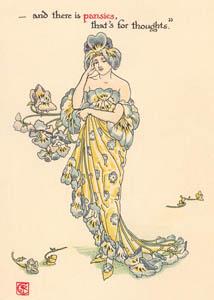 ウォルター・クレイン – パンジー (ハムレット) (シェイクスピアの花園より)のサムネイル画像