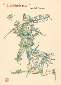 ウォルター・クレイン – オオヒエンソウ (二人の貴公子) (シェイクスピアの花園より)のサムネイル画像
