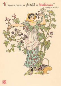thumbnail Walter Crane – If reasons were as plentiful as blackberries (1 Henry IV) [from Flowers from Shakespeare's Garden]