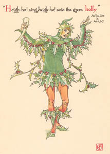 thumbnail Walter Crane – Heigh-ho, sing heigh-ho, unto the green holly (As You Like It) [from Flowers from Shakespeare's Garden]