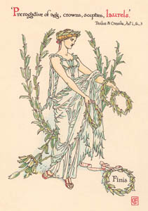 thumbnail Walter Crane – Prerogative of age, crowns, sceptres, laurels. (Troilus and Cressida) [from Flowers from Shakespeare's Garden]