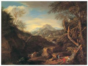 フランソワ・ブーシェ – イタリア風景 (ブーシェ・フラゴナール展より)のサムネイル画像