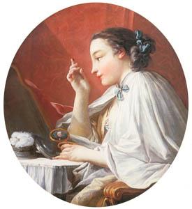 フランソワ・ブーシェ – 化粧する婦人 (ブーシェ・フラゴナール展より)のサムネイル画像