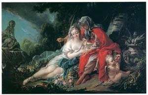 フランソワ・ブーシェ – ウェルトゥムヌスとポモナ (ブーシェ・フラゴナール展より)のサムネイル画像