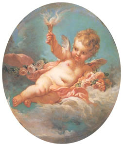フランソワ・ブーシェ – 松明を持つキューピッド (ブーシェ・フラゴナール展より)のサムネイル画像