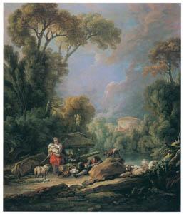 フランソワ・ブーシェ – 羊飼い (ブーシェ・フラゴナール展より)のサムネイル画像