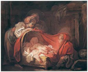 ジャン・オノレ・フラゴナール – 双子 (ブーシェ・フラゴナール展より)のサムネイル画像