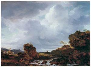ジャン・オノレ・フラゴナール – 風景(急流) (ブーシェ・フラゴナール展より)のサムネイル画像