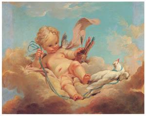 ジャン・オノレ・フラゴナール – 見張りするキューピッド (ブーシェ・フラゴナール展より)のサムネイル画像