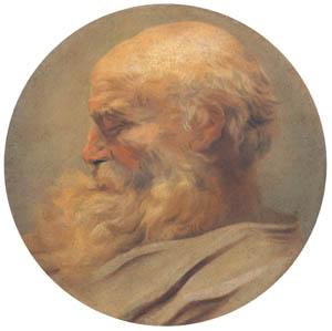 ジャン・オノレ・フラゴナール – 老人の頭部 (ブーシェ・フラゴナール展より)のサムネイル画像