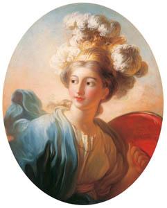 ジャン・オノレ・フラゴナール – 女神ミネルヴァ (ブーシェ・フラゴナール展より)のサムネイル画像