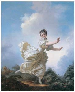 ジャン・オノレ・フラゴナール – 逃げるふりをして (ブーシェ・フラゴナール展より)のサムネイル画像