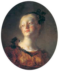 ジャン・オノレ・フラゴナール – 若い女性の頭部 (ブーシェ・フラゴナール展より)のサムネイル画像