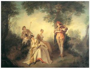 thumbnail Nicolas Lancret – Que le coeur d'un amant est sujet à changer [from Three Masters of French Rocco]