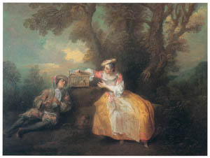 thumbnail Nicolas Lancret – L'Oiseau prisonnier [from Three Masters of French Rocco]