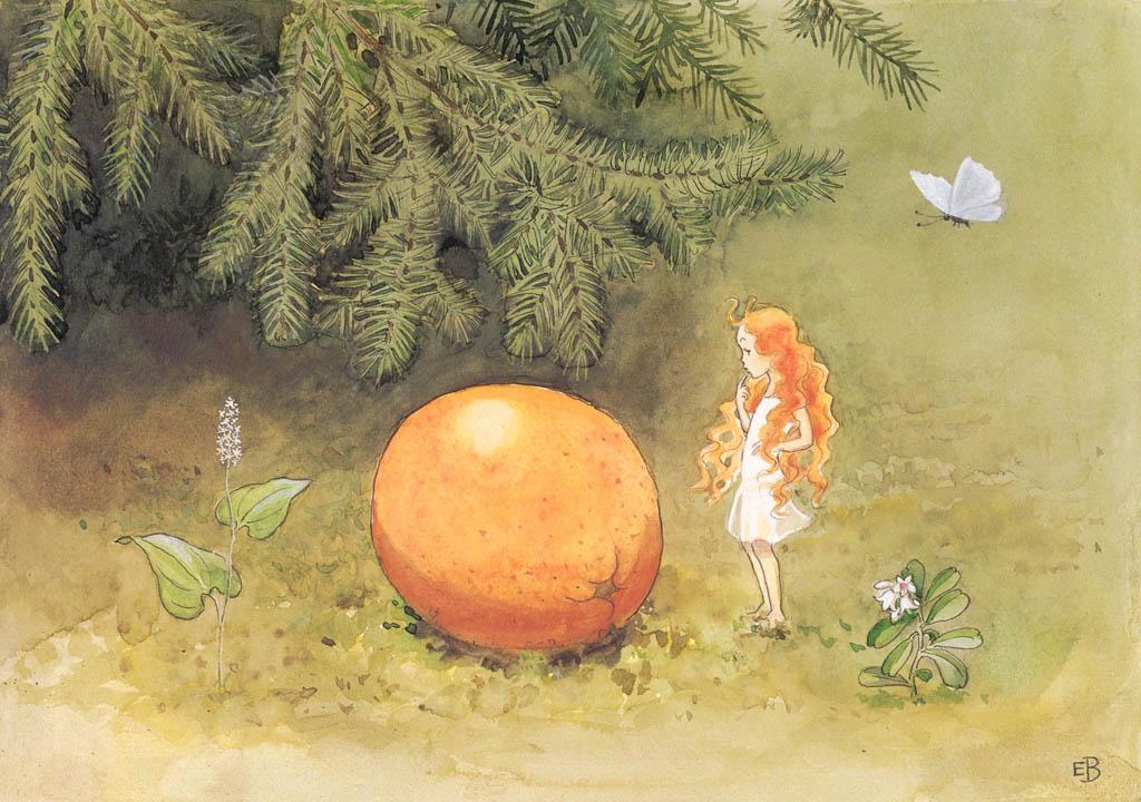 エルサ・ベスコフ – 挿絵3 (おひさまのたまごより) パブリックドメイン画像