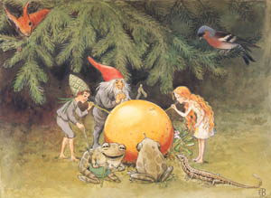 thumbnail Elsa Beskow – Plate 8 [from The Sun Egg]