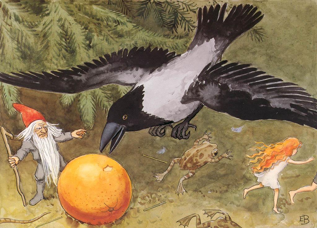 エルサ・ベスコフ – 挿絵9 (おひさまのたまごより) パブリックドメイン画像