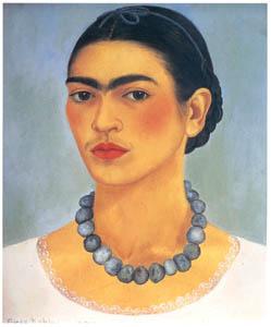 フリーダ・カーロ – 首飾りをつけた自画像 (フリーダ・カーロとその時代より)のサムネイル画像