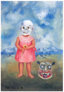 thumbnail Frida Kahlo – Girl with Mask of Skull [from Women Surrealists in Mexico]