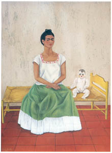 thumbnail Frida Kahlo – Self-portrait with Bed [from Women Surrealists in Mexico]