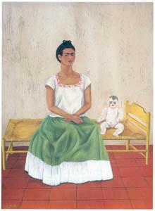 フリーダ・カーロ – ベッドのある自画像 (フリーダ・カーロとその時代より)のサムネイル画像