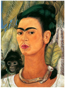 thumbnail Frida Kahlo – Self-portrait with Monkey [from Women Surrealists in Mexico]