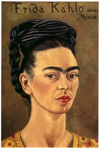 thumbnail Frida Kahlo – Self-portrait with Red and Gold Dress [from Women Surrealists in Mexico]