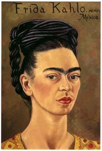 フリーダ・カーロ – 赤と金色の服を着た自画像 (フリーダ・カーロとその時代より)のサムネイル画像