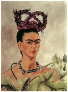 フリーダ・カーロ – 編み上げ髪の自画像 (フリーダ・カーロとその時代より)のサムネイル画像