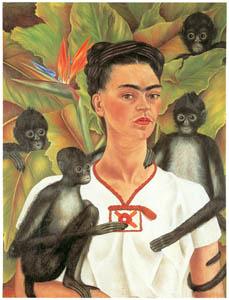 フリーダ・カーロ – 猿をつれた自画像 (フリーダ・カーロとその時代より)のサムネイル画像