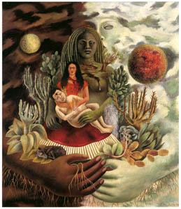 フリーダ・カーロ – 宇宙、大地(メキシコ)、ディエゴ、私、ショロトル神の愛の抱擁 (フリーダ・カーロとその時代より)のサムネイル画像