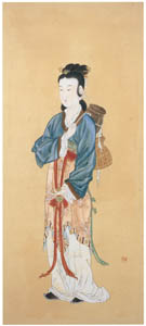 thumbnail Josiah Conder – Ling Zhao and Shide, Folding Screen [from Kyosai: master painter and his student Josiah Coder]
