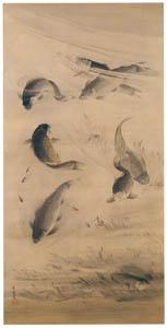 thumbnail Kawanabe Kyōsai – Swimming Carp [from Kyosai: master painter and his student Josiah Coder]