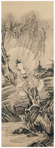 thumbnail Kawanabe Kyōsai – Byakue Kannon (Skt: Paandara Vasini) [from Kyosai: master painter and his student Josiah Coder]