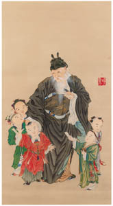 thumbnail Kawanabe Kyōsai – Tang-Dynasty General Guo Ziyi [from Kyosai: master painter and his student Josiah Coder]