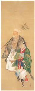thumbnail Kawanabe Kyōsai – From the Noh Play, Takasago [from Kyosai: master painter and his student Josiah Coder]