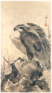 thumbnail Kawanabe Kyōsai – Eagle on a Rock [from Kyosai: master painter and his student Josiah Coder]