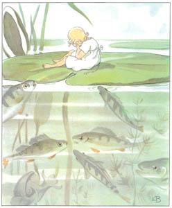 エルサ・ベスコフ – 挿絵5 (おやゆびひめより)のサムネイル画像
