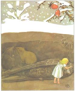 エルサ・ベスコフ – 挿絵10 (おやゆびひめより)のサムネイル画像