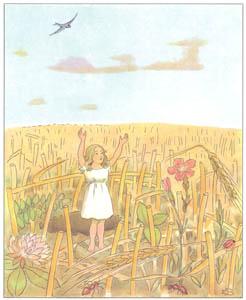 エルサ・ベスコフ – 挿絵13 (おやゆびひめより)のサムネイル画像