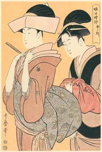 thumbnail Kitagawa Utamaro – Woman around the Clock: at the hour of the Monkey (4:00 p.m ) [from Utamaro – Ukiyoe meisaku senshū I]