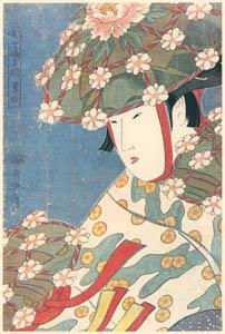 thumbnail Kitagawa Utamaro – Modern Dancers – Heron Girl [from Utamaro – Ukiyoe meisaku senshū I]