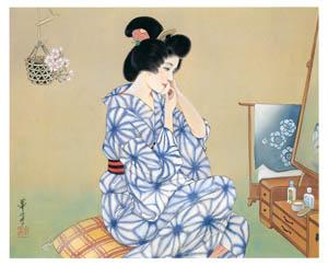 thumbnail Takabatake Kashō – After a Bath [from Catalogue of Takabatake Kashō Taisho Roman Museum]