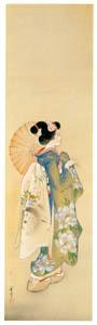 高畠華宵 – 舞妓の春 (高畠華宵大正ロマン館図録より)のサムネイル画像